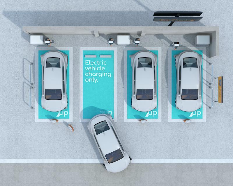 EVUp EV charging parking spaces