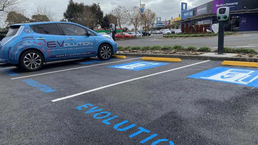 Shopping centre EV charging